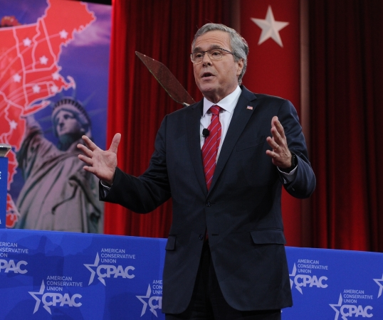 Former Florida governor Jeb Bush speaks at the Conservative Political Action Conference on Feb. 27, 2015. (H. Darr Beiser, USA TODAY)